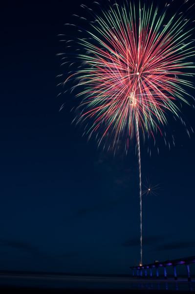 Fireworks at New Brighton, Christchurch